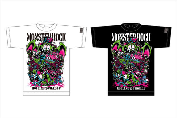 ROLLING CRADLE × MONSTER ROCK 10th ANNIVERSARY ALL STARS PARTY Tシャツ