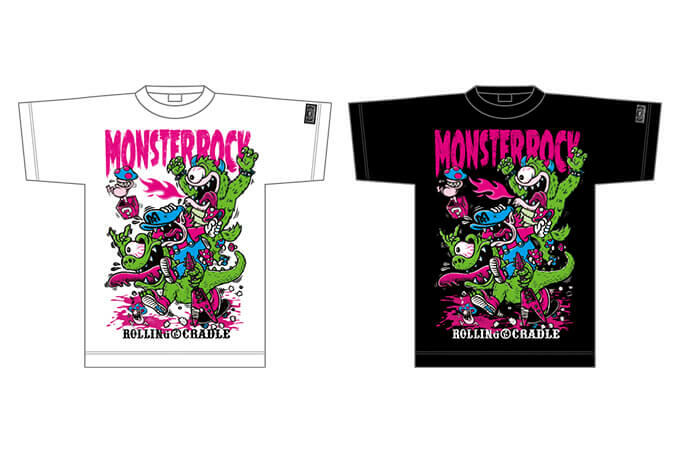 ROLLING CRADLE × MONSTER ROCKSURVIVE! MADNESS BROS. Tシャツ